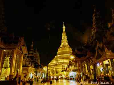 The Golden Pagoda is a gilded stupa erected in the capital of Myanmar, Yangon.